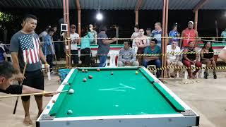 Croquete de Manaus mostra todas as suas habilidades na sinuca.