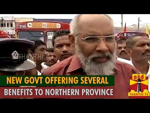 Sri Lankan Government Offering Several Benefits to Northern Province : C. V. Vigneswaran