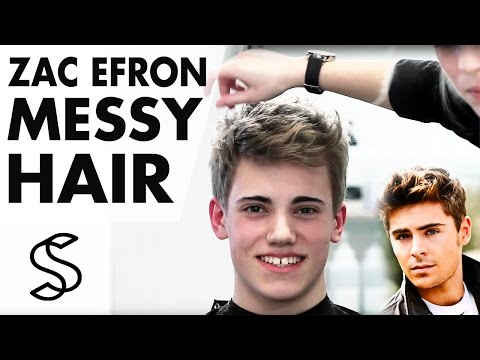 Zac Efron Messy Hair ★ Medium Length Mens Hairstyle ★ Professional Guide
