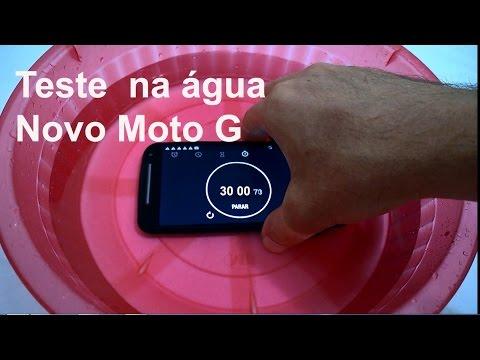 Novo Moto G DTV Resiste 30 minutos na água (TESTE 3:49)