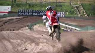 Yoko rider Seppo Manninen riding Honda CR 500 at 2011 MX3 World Championships