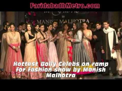Hottest Bolly Celebs on ramp for fashion show by Manish Malhotra