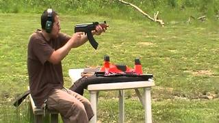 Mini Draco AK47  shooting