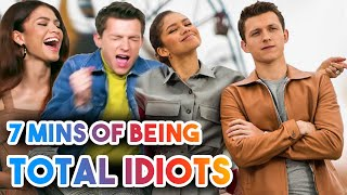 TOM HOLLAND AND ZENDAYA BEING TOTAL IDIOTS FOR 7 MINS STRAIGHT | FUNNY MOMENTS 2019 SPIDER-MAN