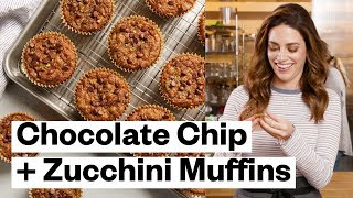 Chocolate Chip + Zucchini Muffins (Paleo) | Thrive Market
