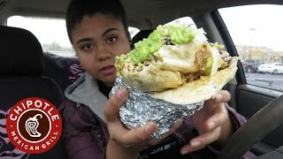 Loaded Burrito, Guacamole, and Chips Mukbang | Chipotle