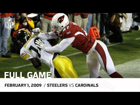 Super Bowl XLIII: Pittsburgh Steelers vs. Arizona Cardinals   NFL Full Game