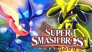 Smash Bros Ultimate - GRENINJA VS LUCARIO!