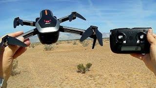 ZLRC Beast SG906 Folding Long Flying Brushless GPS Drone Flight Test Review