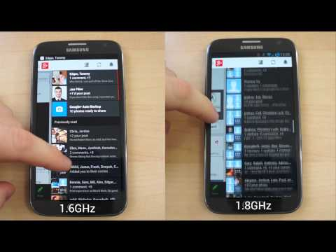 Before and after: an overclocked Galaxy Note II