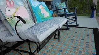 How to Paint a Rug for Your Porch