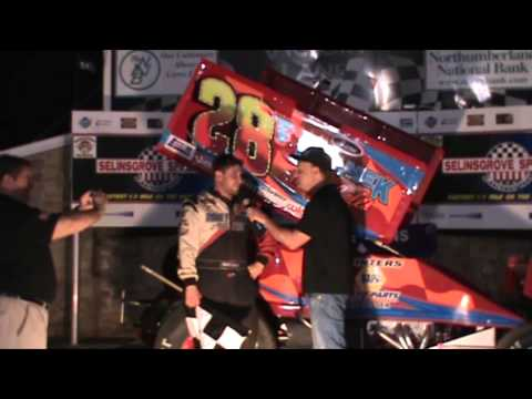 Selinsgrove Speedway 360 Sprint Car Victory Lane 4-18-15