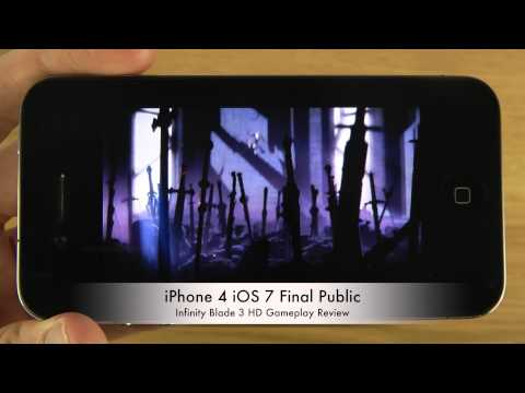 Infinity Blade 3 iPhone 4 iOS 7 Final Public HD Gameplay Review