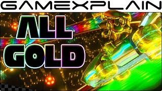 Mario Kart 8 Deluxe: All GOLD Kart Parts & Gold Mario (Body, Tires & Glider!)