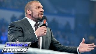 Roman Reigns interrupts Triple H: Smackdown, January 29, 2015