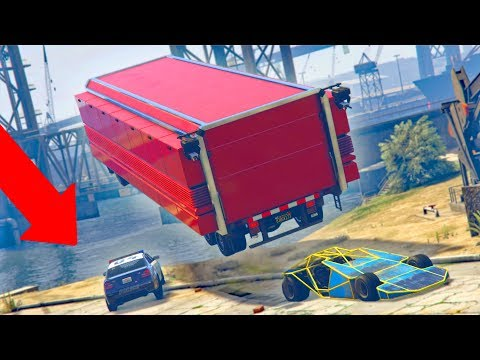 WE LAUNCHED HIM INTO THE WATER! *RAMP CAR TROLLING!* | GTA 5 THUG LIFE #157