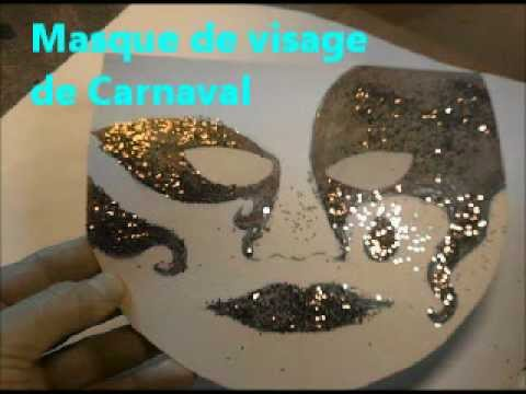 Masque de visage de carnaval fabriquer pas pas et - Decorer sa maison pour halloween ...