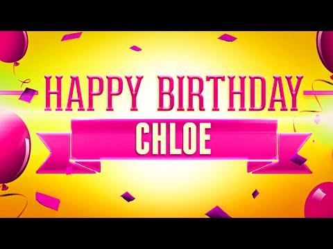 Happy Birthday Chloe