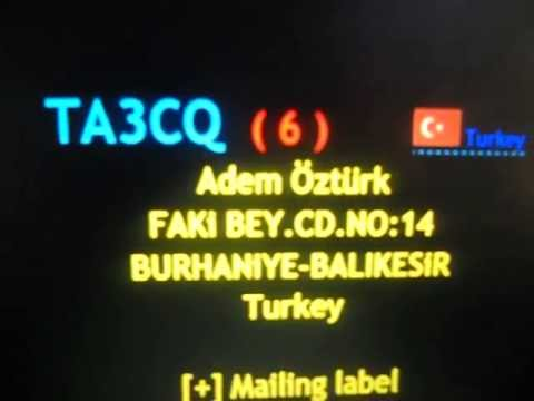 TA3CQ/6- Adem Öztürk - TURKEY - 21:36 utc - 07-May-2013 - 40 meters band