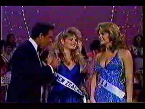 1st Miss Universe >> Miss Universe 1983- Farewell Walk & Crowning - YouTube