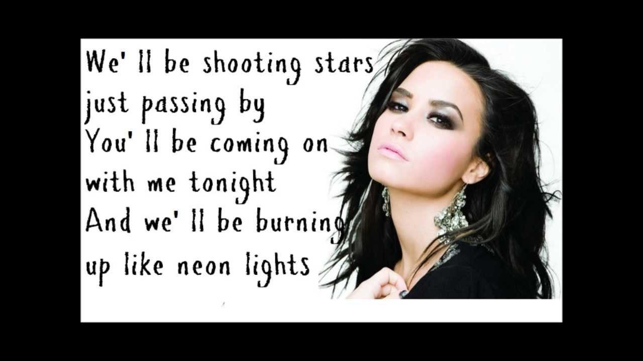 demi lovato song lyrics demi lovato neon lights lyrics youtube