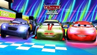 Cars Lightning McQueen NEON Unlocked vs Yokoza Track Japanese Racer- Fast as Lightning NEON RACING!
