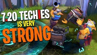 Techies is STRONG in 7.20! - DotA 2