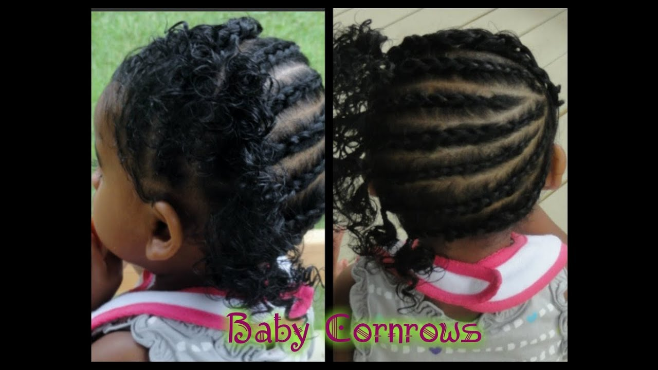 183 Baby Hair Care Simple Fast Cornrows Youtube