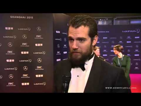 Henry Cavill Interview at the Laureus World Sports Awards 2015