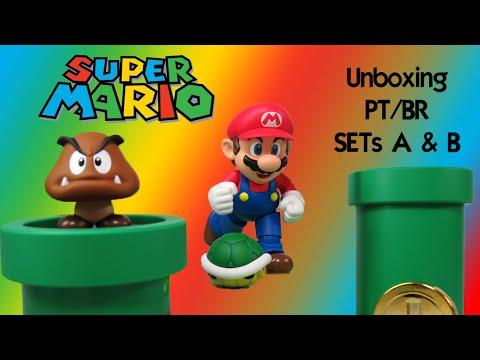 Caixa de Pandora #152 - Super Mario - Sets A & B - S.H. Figuarts - PT/BR