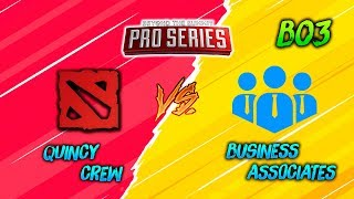 Quincy Crew vs Business Associates ► BTS Pro Series (BO3)  | Dota 2