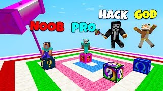 Minecraft Battle: FAMILY LUCKY BLOCK RACE CHALLENGE - NOOB vs PRO vs HACKER vs GOD in Minecraft