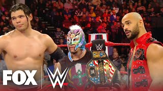 Rey Mysterio, Ricochet, and Humberto Carrillo vs The O.C. | MONDAY NIGHT RAW