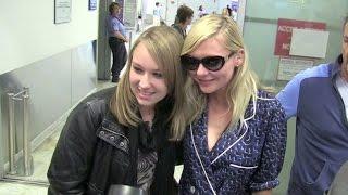 Kirsten Dunst and boyfriend Garretth Hedlund arriving in Cannes