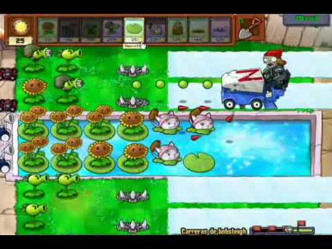 plantas vs zombies - minijuego - carrera de bobsleigh