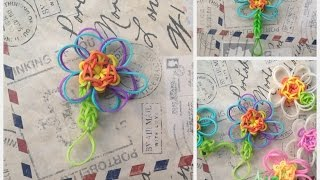 Tutorial na Kwiatka z Rainbow Loom