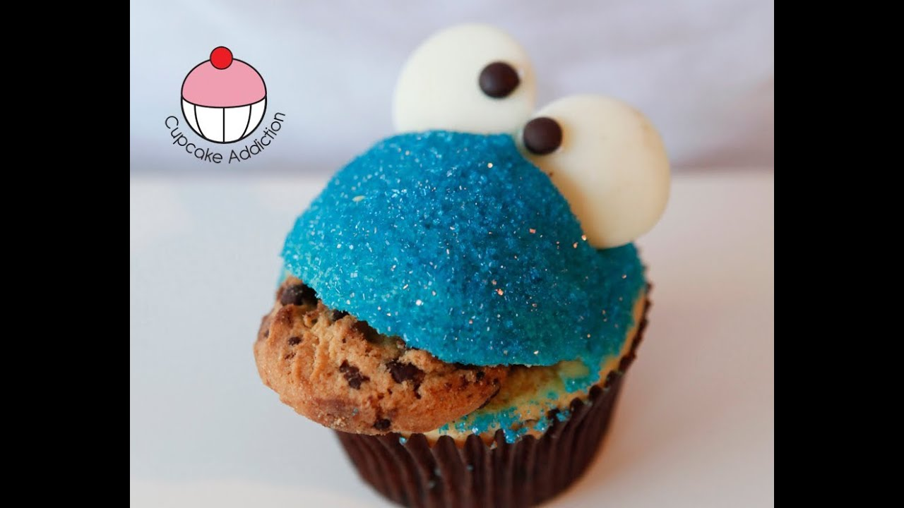 Cookie Monster Cupcakes!! Easy Sesame Street Cupcakes - A Cupcake ...