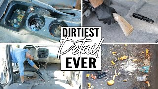 Cleaning The Dirtiest Car Interior Ever! Complete Disaster Full Interior Car Detailing A Ford Escape