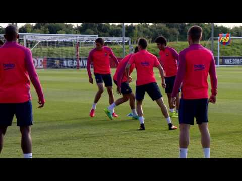 FC Barcelona's evening training session at St. Georges Park (28/07/16)