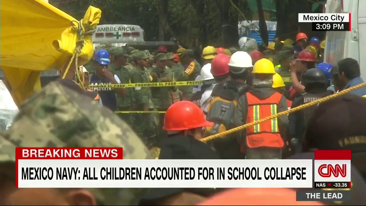 Mexico earthquake: All kids accounted for in collapsed school