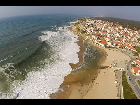 S�o Pedro de Moel and Lighthouse Aerial View