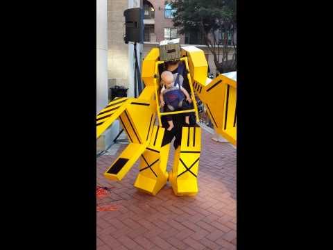 Aliens Yellow Robot ▶ Aliens Robot Baby Costume