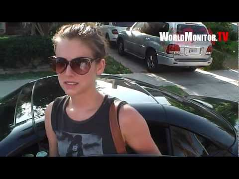 Exclusive: Jessica Stroup Up close and personal leaving the gym gives scoop on 90210