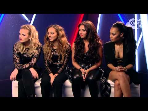 Little Mix Chat To Max Backstage At The Jingle Bell Ball 2013
