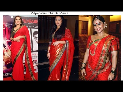 Beautiful India Bollywood Actress Looking Hot In Red Saree video