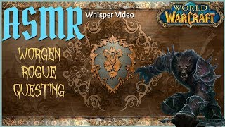 ASMR   World of Warcraft   Worgen Rogue Questing & Whispering
