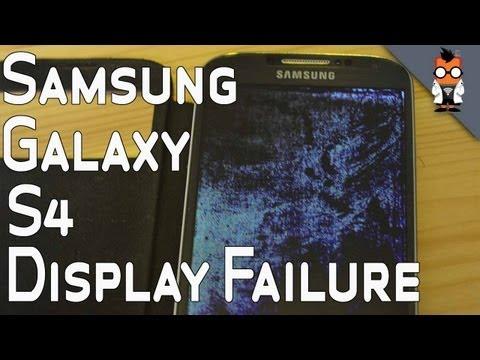 Samsung Galaxy S4 Mysterious Display Failure