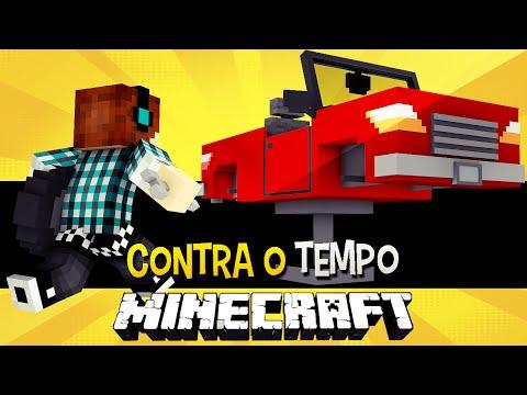 Contra o Tempo #03 - Construindo Um Carro no Minecraft  !!