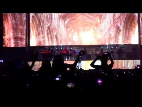 Eminem at Lollapalooza 2014 performing Rap God