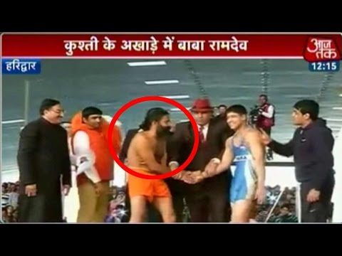 Baba Ramdev reveals his wrestling prowess